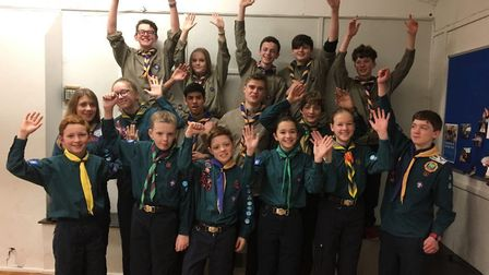 St Albans Scouts being sent on the jamboree.