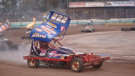 Huntingdon racer Guy Jolly in action during the 2016 season. Picture: COLIN CASSERLEY