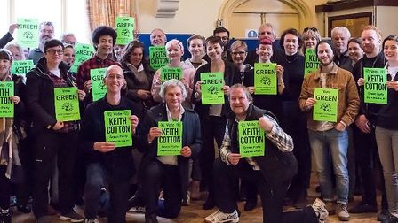 Green Party activisits at Marlborough Road Methodist Church. Picture: Anna Baillie.