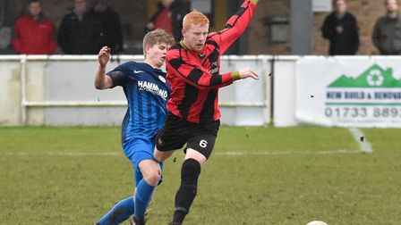 Huntingdon Town man Ben Panting impressed in their draw at Bourne. Picture: J BIGGS PHOTOGRAPHY