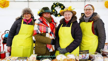 Volunteers on a cake stall at the Thriplow Daffodil Weekend. Picture: Danny Loo