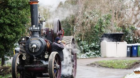 A steam engine at the Thriplow Daffodil Weekend. Picture: Danny Loo
