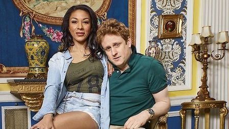 Richard Goulding (Prince Harry) and Kathryn Drysdale (Meghan Markle). Picture: Channel 4.