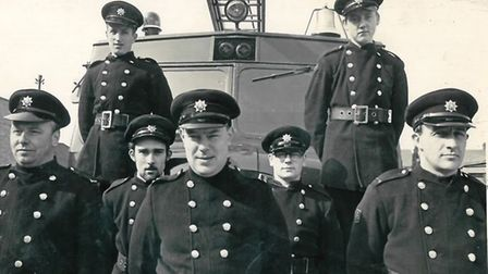 George Milbank with the AFS crew 50 years ago
