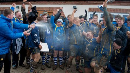 It's a champagne moment for St Ives following their Midlands Senior Vase success. Picture: PAUL COX