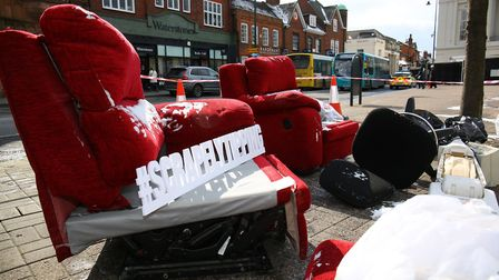 The launch of the S.C.R.A.P fly tipping campaign in St Albans City Centre. Picture: Danny Loo