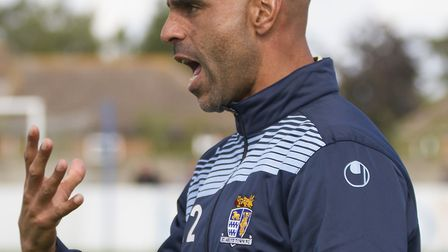 Manager Matt Clements is chasing new St Neots Town signings. Picture: CLAIRE HOWES