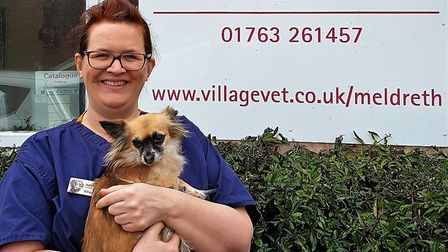 Jo Brown is an award finalist for her caring work at Village Vet in Meldreth. Picture: Newsline PR