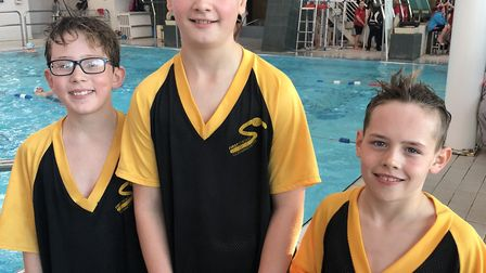 Liam Conway, Rory Webb and Riley Hall of First Strokes Godmanchester.