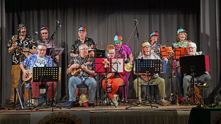 The Rotary Club of Huntingdon Cromwell hosted a vaudeville evening at Buckden Village Hall. Picture: