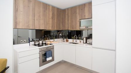 The apartments have been fitted out with bespoke Italian kitchens