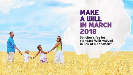 A poster for the Make a Will scheme. Picture: The Hospice of St Francis.
