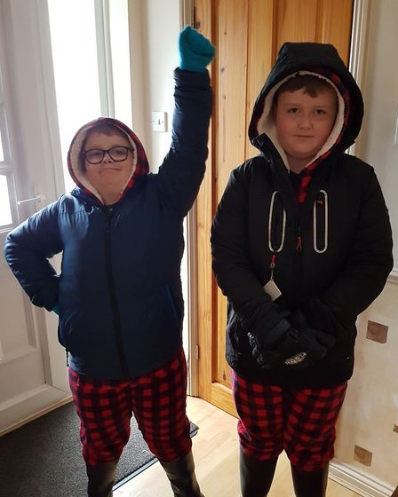 Toby aged 9 and Harvey aged 10, from Somersham primary school