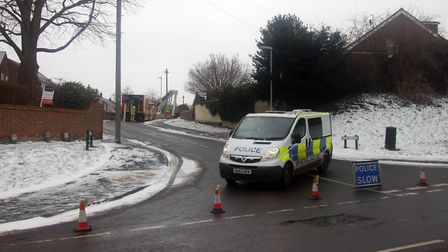 Police closed Briary Lane in Royston. Picture: Don Shewan