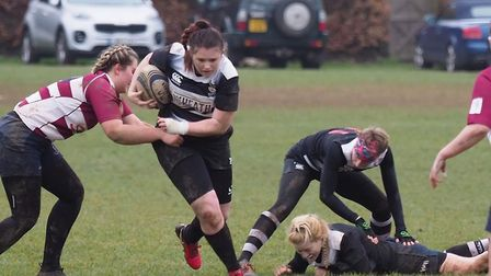 Royston Ladies were given a tough test by Welwyn before running out 31-21 winners. Picture: BRIAN HE