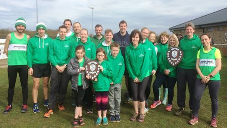 Riverside Runners show off their Frostbite Friendly League accolades. Picture: CONTRIBUTED