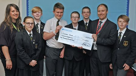 The Hinchingbrooke School young carers group were among the winners of last year's Skip of Gold.
