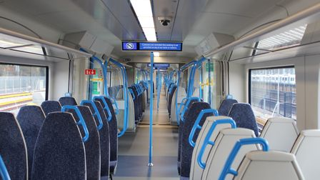 The interior of the new Class 700 trains. Picture: Govia Thameslink