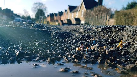 Potholes are on the rise in St Albans. Picture: Eddie Hammerman