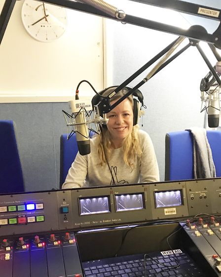 Stacey on Radio Verulam's Parents Show talking about her campaign. Picture: Stacey Turner.