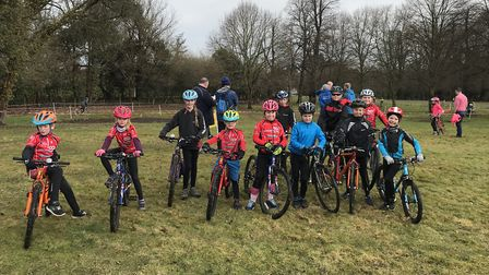 The St Ives Cycling Club 'Go Ride' team.