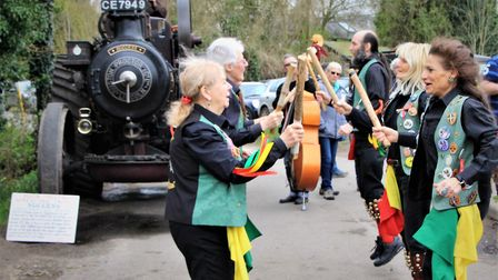 The morris dancers entertain at last year's extravaganza. Picture: Clive Porter.