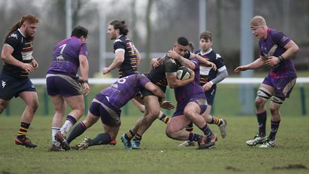Old Albanians V Loughborough Students .Picture: Karyn Haddon