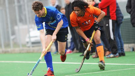 Hitchin V St Albans Hockey - Samuel Rees in action for Hitchin.Picture: Karyn Haddon