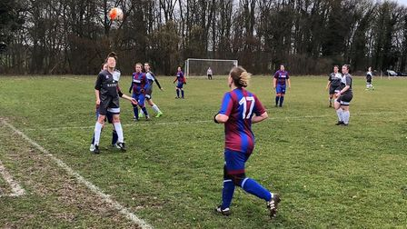 St Albans Ladies are through to the final of the Beds & Herts League Cup after a 7-3 win over Sharnb