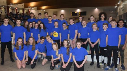 St Albans & District swimming team who shone at the Hertfordshire Secondary Schools Inter-District S