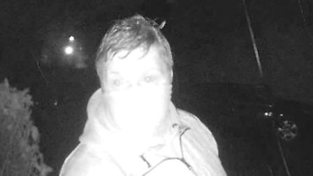 A CCTV image of one of the men being sought by police.