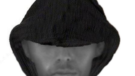 The image of a man police wish to speak to about a rape in St Albans.