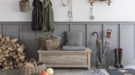Bootroom basics: a classic array from Garden Trading , which includes an Aldsworth Hallway Bench Box