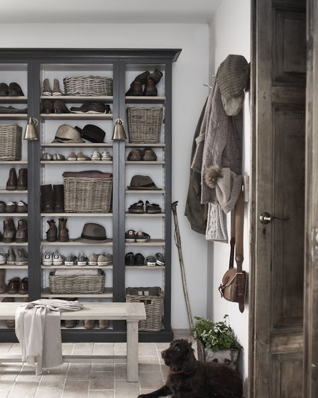 Pembroke shelving from Neptune (£840) with an array of Somerton baskets, priced from £51 each (www.n