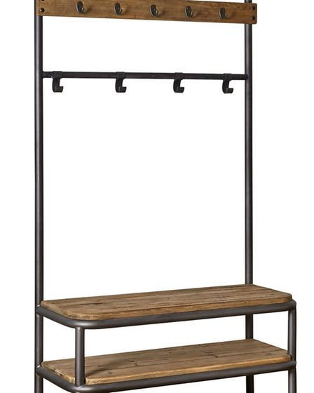 Jeeves clothes rack, made in China for Swoon Editions in reclaimed pine (649 www.swooneditions.com)