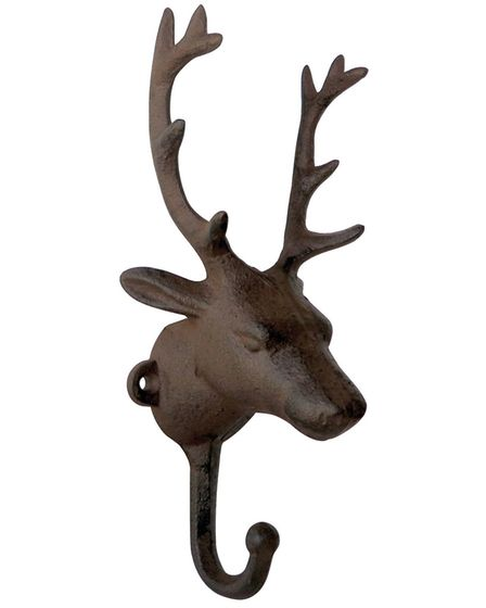 Stag coat hanger made of cast iron so the antlers will do the job as well (£11.28 from www.yellowoct