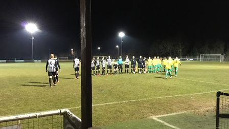 The teams line-up before Colney Heath hosted Leverstock Green.