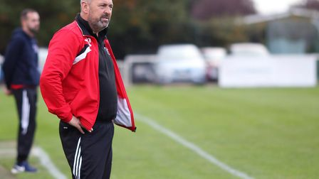 Colney Heath manager Ryan Thompson. Picture: KEVIN LINES