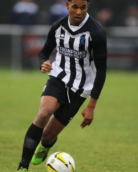 Isa Rotimi in action for Colney Heath. Picture: KARYN HADDON