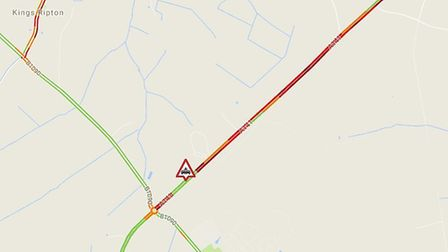 A stretch of the A141 has been closed following a collision. Picture: CONTRIBUTED