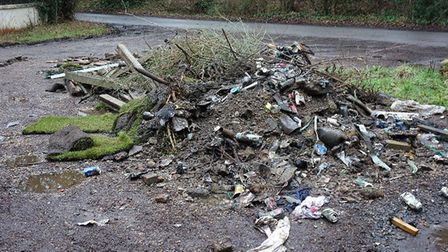 The fly-tip in Bricket Wood. Picture: Park Street Neighbourhood Watch