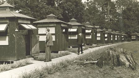 The wooden huts used by TB patients (c 1932)