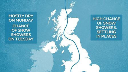 Will St Albans see snowfall? Picture: Met Office