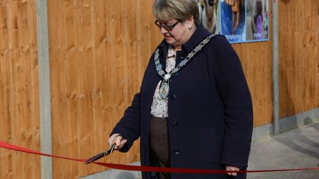 Harpenden town mayor Rosemary Farmer opens the Canine Creche on Lower Luton Road.