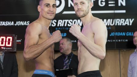 Manchester Next Gen Show Weigh In19th January 2018Picture By Mark Robinson.JORDAN GILL and JASON