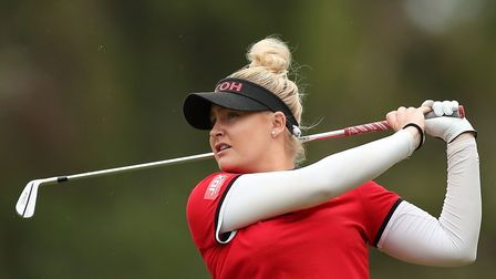 Charley Hull of England. (Photo by Mark Metcalfe/Getty Images)