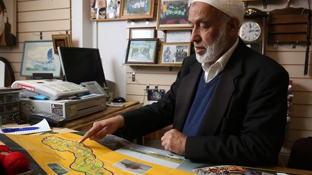Mohammed Akhtar who runs the Kadect Charity Shop on Hatfield Road has recently been out to the Gambi