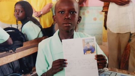 Deaf children in one of the schools in The Gambia set up by Mohammed Akhtar who runs the Kadect Char