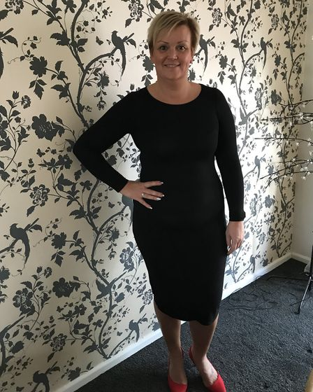 After - Tracy Rooney after losing three and a half stone