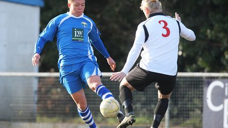 London Colney V Hoddesdon Town - Laurence Vaughan in action for London Colney.Picture: Karyn Hadd